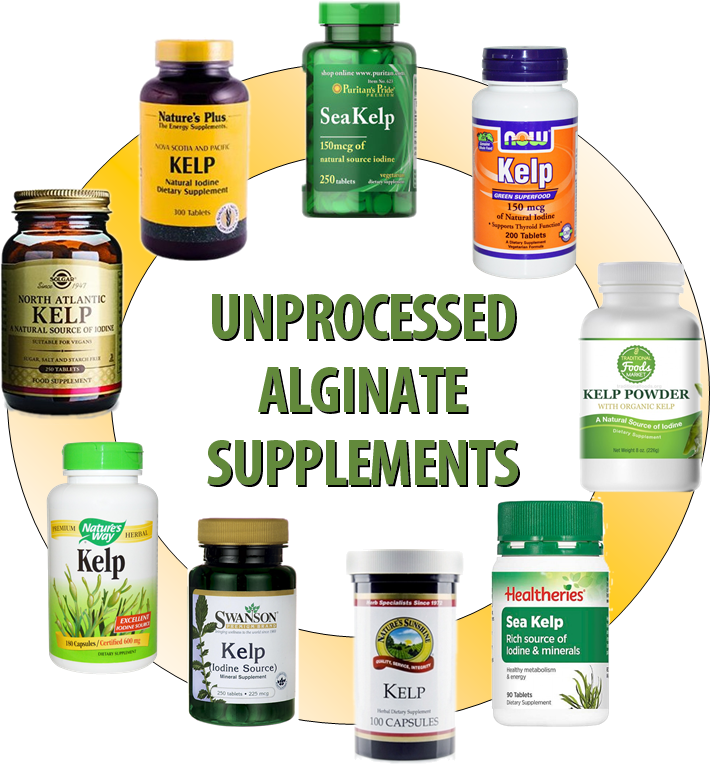 Unprocessed Alginate Supplements