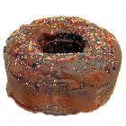 Chocolate Glazed Bunt Cake - Faux Fake Prop Food