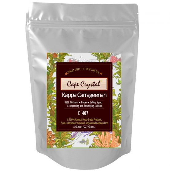 Premium Kappa Carrageenan Powder 8-oz. By Cape Crystal