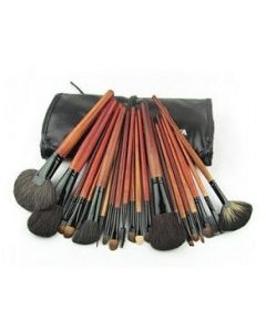 18pc Wood Makeup Brush