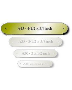 Brass Engraved Name Plate Size: 4-1/2 x 3/4""