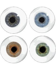 Blown Glass Eyes without Veining (pair)