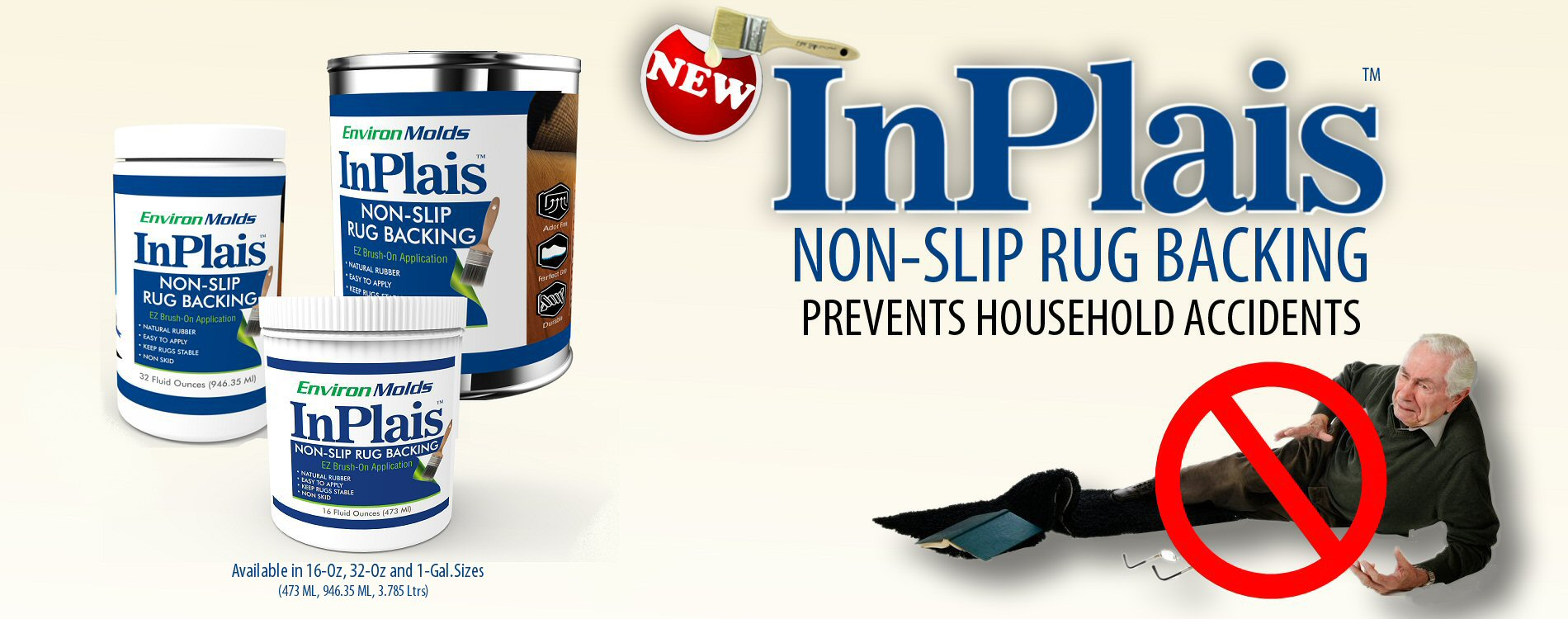 InPlais Non-Slip Area Rug Backing |Fabric & Floor Safe Latex Layer