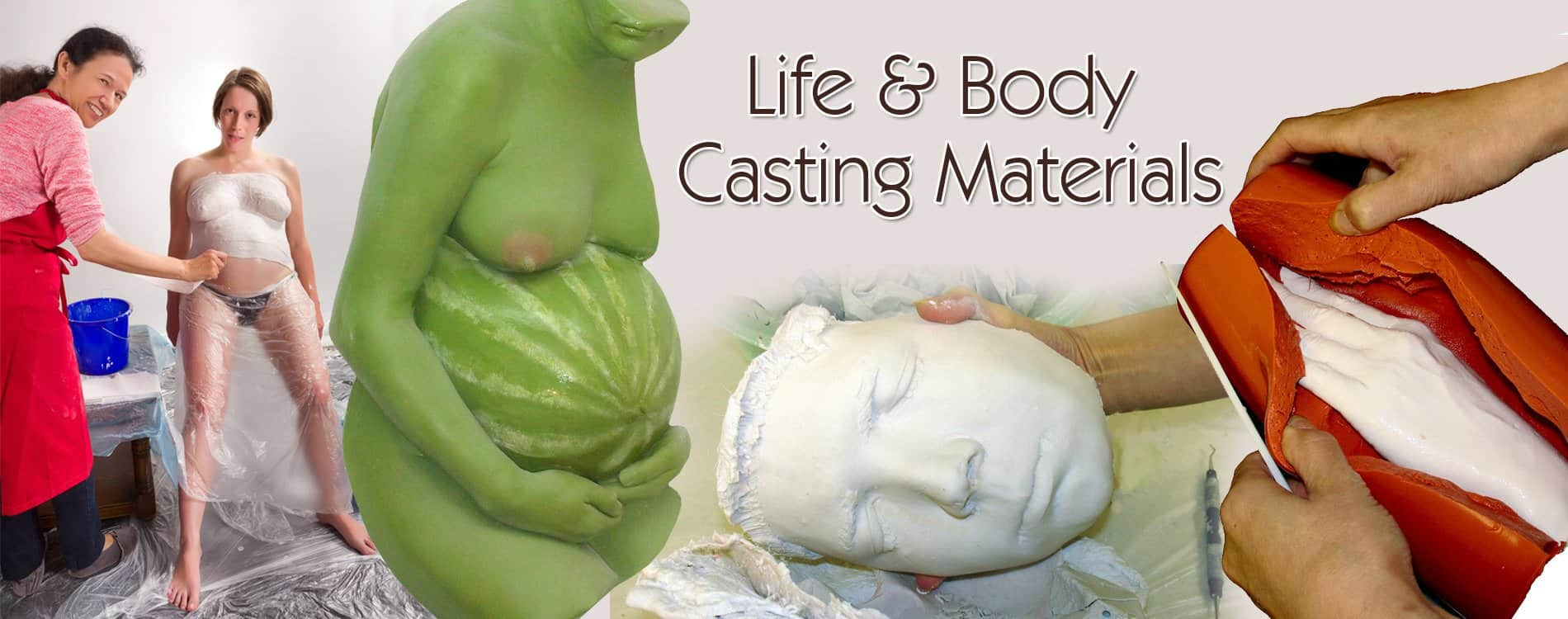 Life Casting and Body Casting Materials including Alginate