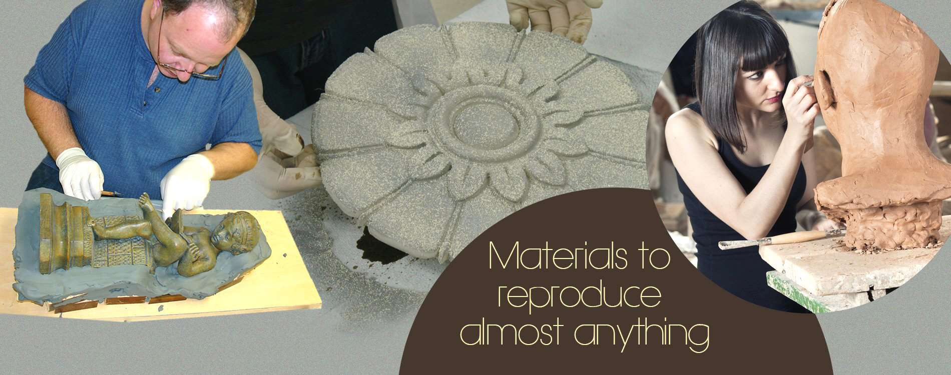 Materials to Reproduce Almost Anything include Silicone Rubber and Alginate